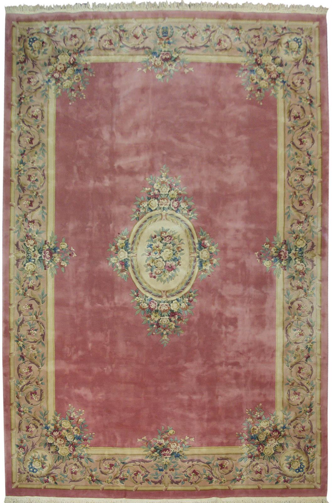 Rra 12x18 Pink Rose Aubusson Rug Carpet Floral 29737 Ebay